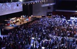 成功、工作者公司党的和音乐会 免版税库存照片