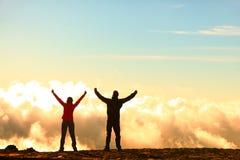 成功、成就和成就概念 免版税库存照片