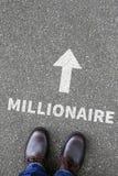 成功企业概念百万富翁富有的财富的成功 免版税图库摄影