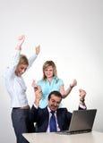 成功企业的同事 免版税库存照片