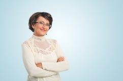 成功前辈妇女纵向  免版税库存照片