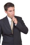 成功可爱的生意人 免版税库存图片