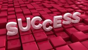 成功和立方体 库存照片