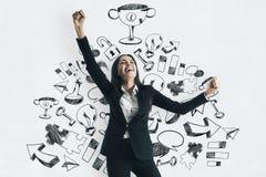 成功和配合概念 免版税库存图片