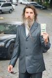成功和雄心勃勃的商人 免版税库存照片