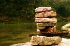 成功对生活:稳定和平衡 免版税库存图片