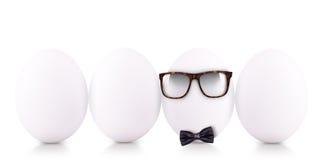 成功标志概念用白鸡蛋 免版税库存图片