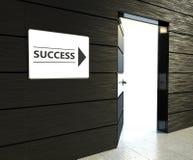 成功标志,门户开放主义的办公室 免版税库存图片