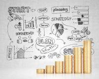 成功概念企业计划 免版税库存图片