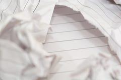 成功概念和想法弄皱了文本的纸空间 免版税库存照片