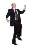 成功生意人成熟的纵向 免版税图库摄影
