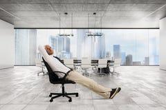 成功生意人的办公室 库存照片