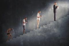 成功的人事业演变 免版税库存图片