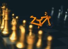 成功的人民下棋比赛  免版税图库摄影