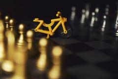 成功的人民下棋比赛  库存照片