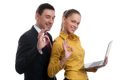 成功的企业夫妇 库存图片