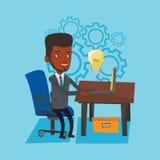 成功的企业想法传染媒介例证 免版税库存图片