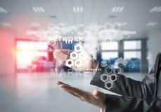 成功的企业概念的现代技术 免版税图库摄影