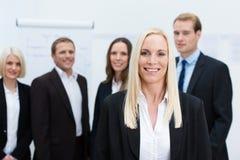 成功的公司女经理 免版税库存图片