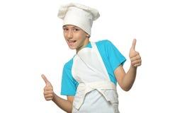 成功的厨房男孩 免版税库存图片