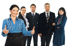 成功的合伙企业 免版税库存照片