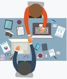 成功的合作平的设计样式  免版税库存图片