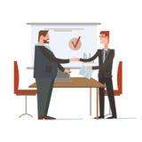 成功的合作,商人合作协议 免版税库存图片