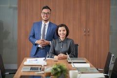 成功的商业领袖在办公室 库存图片