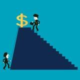 成功的商人和竞争者 库存例证