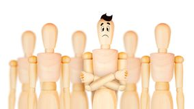 成功的团队负责人和另一个企业主导的概念 库存例证
