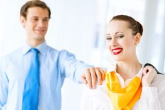年轻成功的女商人 免版税库存图片