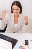 成功的女实业家 免版税库存图片