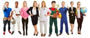 成功的小组许多职业 免版税库存图片
