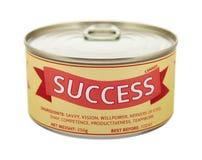 成功的概念。锡罐。 库存照片
