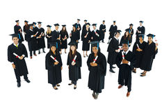 成功的毕业成就庆祝概念 免版税库存图片