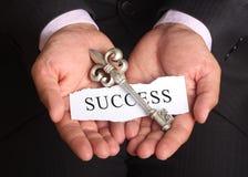 成功的秘密钥匙在事务 免版税库存图片