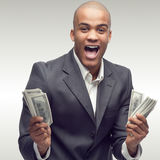 成功的年轻非洲商人 免版税库存图片