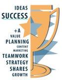 成功目标配合价值计划词概念 库存图片