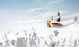 成功管理和信息分析 免版税库存照片