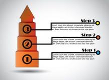成功跨步企业提案infographics成功的成长 免版税库存图片