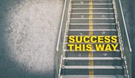成功这个方式提高成功台阶企业概念 免版税库存照片