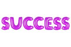 成功,紫色颜色 免版税库存照片