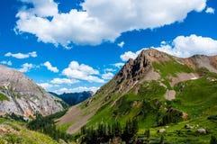 成功登上石科罗拉多斯通山峰顶  库存照片