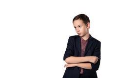 成功年轻企业男孩画象  库存图片