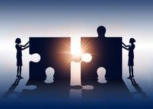 成功 企业队和解答 传染媒介企业illustratio 皇族释放例证