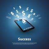 成功-在网上买卖-图形设计概念 库存照片