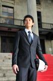 成功6个亚洲人的工程师 免版税库存照片