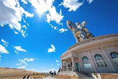 成吉思汗世界的最大的雕象  库存图片