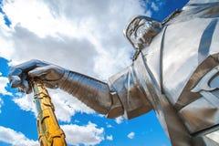 成吉思汗世界的最大的雕象  免版税库存照片