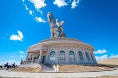 成吉思汗世界的最大的雕象  免版税库存图片